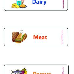 dairy meat pareve labels
