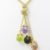14K Gold Plated Sterling Silver Necklace with Swarovski Crystals