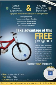 TONIGHT – Flatbush Shomrim Bike Etching Program