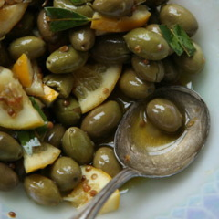 Edible Purim Gifts: Lemon Garlic Olives