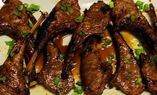 For Pesach: Baby Lamb Chops with Wine Vinaigrette
