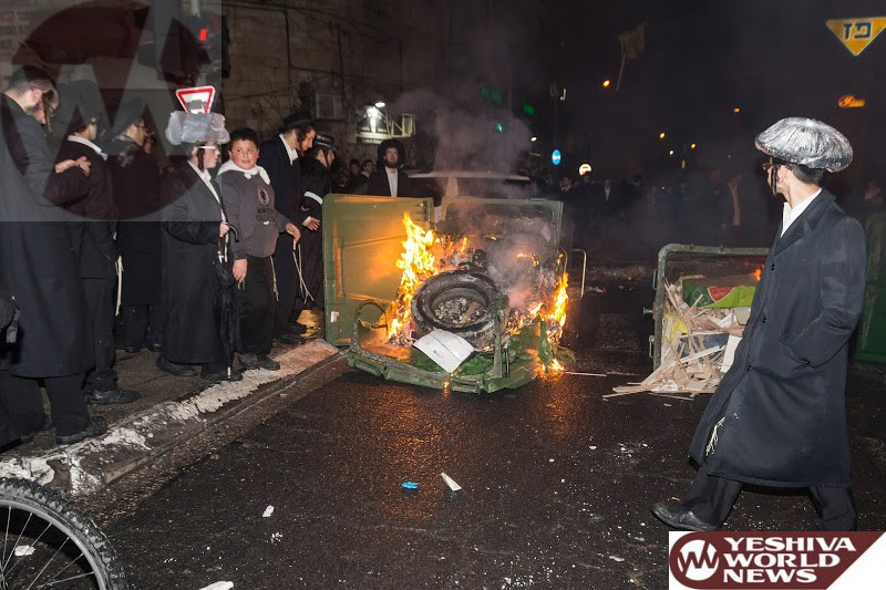 Admor Instructs 'Eid Kedushin' to Pay His Debts Before Chupah - Pays For Setting Dumpsters Ablaze In Meah Shearim Protest
