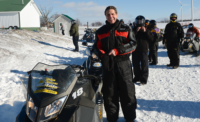 Video: Gov. Cuomo Rides Snowmobile At $4.5M Campaign Launch To Promote Upstate Tourism