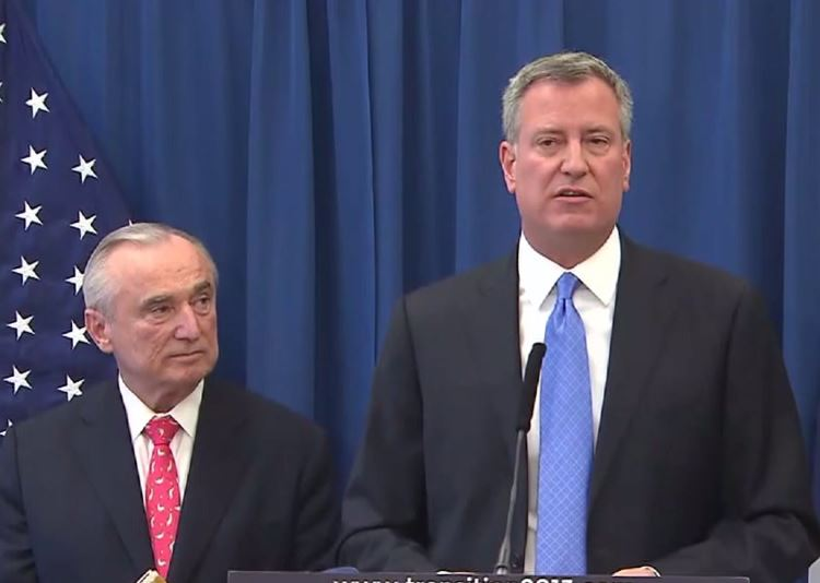 Mayor De Blasio: NYPD Commissioner Bratton Was Right To Criticize City Hall