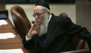 Litzman Takes the Prime Minister's Offer to the Rebbes