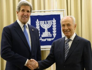 President Peres Met with US Secretary of State John Kerry