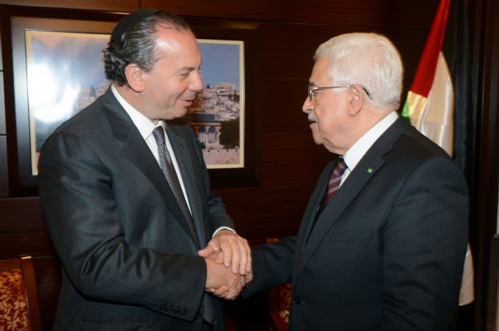 Rabbi Marc Schneier Meets With Mahmoud Abbas