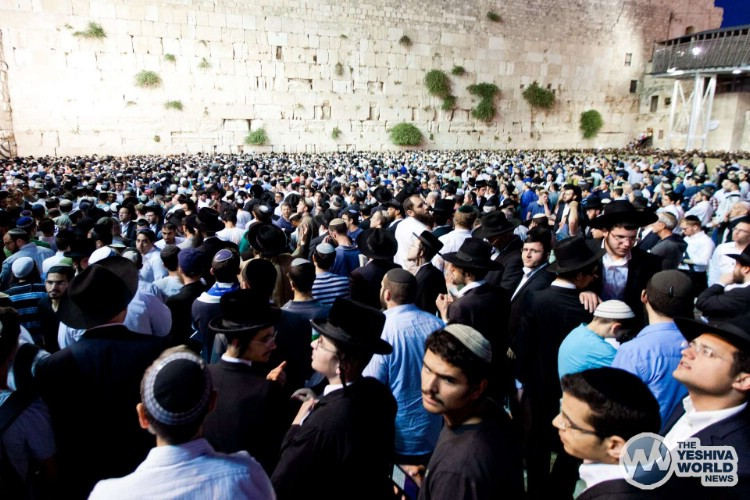 Atzeres at Kotel For Kidnapped Boys - Kuvien Images ---009