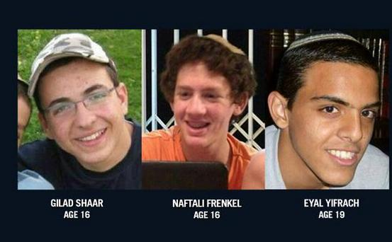 World Jewish Congress Shocked At Murder Of 3 Abducted Israeli Teens