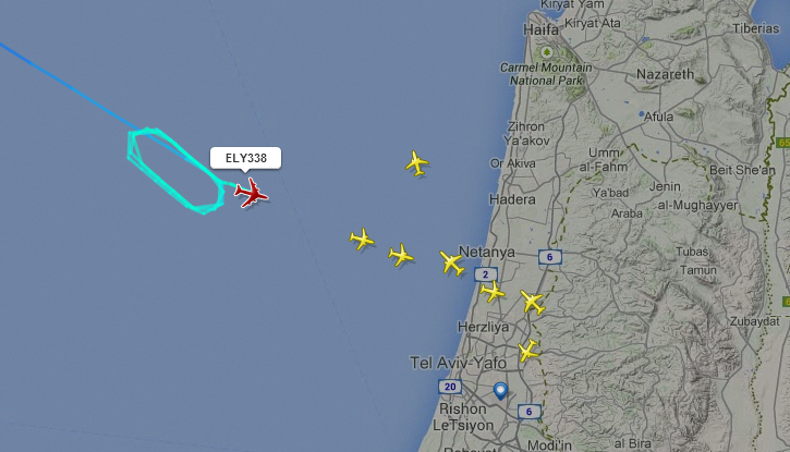 PHOTO: This Is How Commercial Flights Reroute During Rocket Attacks To Those Areas