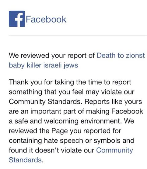 Facebook Says Page Calling for Death to Jews Doesn't Violate 'Community Standards'