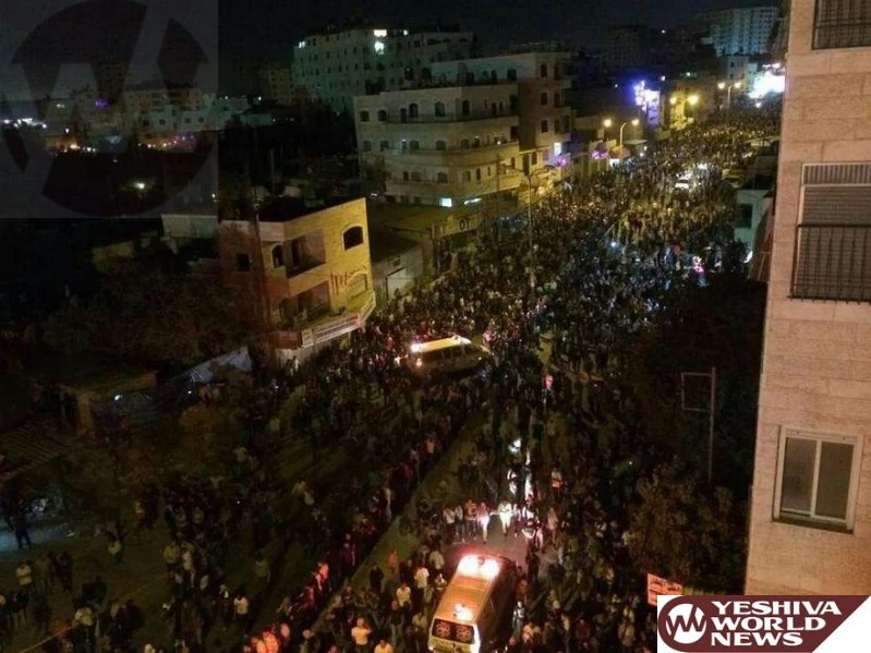 BREAKING PHOTOS: 10,000 Palestinians Protesting Now At The Qalandiya Checkpoint; 3 Dead, Hundreds Injured [UPDATED 1:00AM IL]