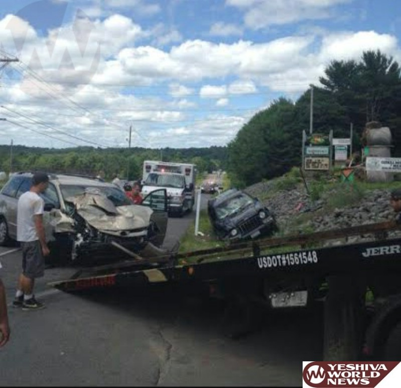 PHOTOS: Serious MVA On Route 17B In Monticello - 1 Victim Airlifted (Thursday 12:00PM)