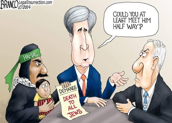 Political Cartoon on Cease Fire Discussions