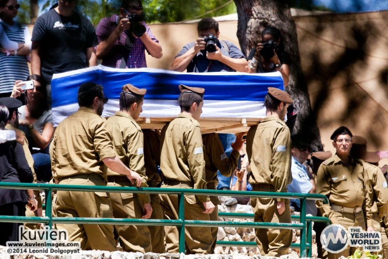 Photo Essay: Levayos Of Fallen IDF Soldiers Killed By Hamas Terrorists (Leonid Dolgopyat - Kuvien Images - www.kuvienimages.com)