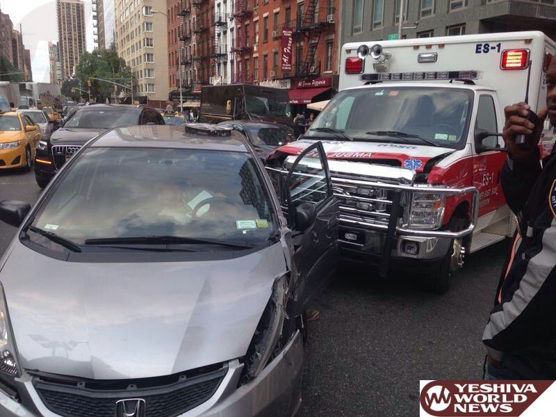 PHOTOS: Hatzolah Ambulance Involved In Crash In Manhattan