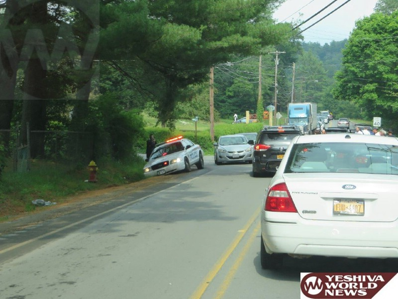 PHOTOS: MVA At Old Falls Road & Riverside Drive in Fallsburg (Photos By Yoely Goldstein - JDN)