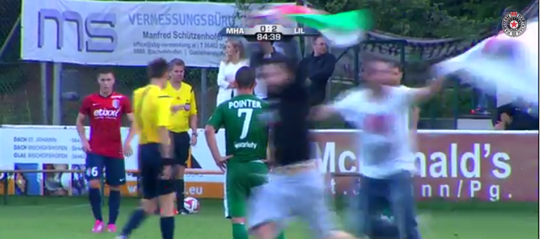 Video: Antisemitic & Anti-Israel Pro Palestinians Attack Maccabi Haifa Players in Austria