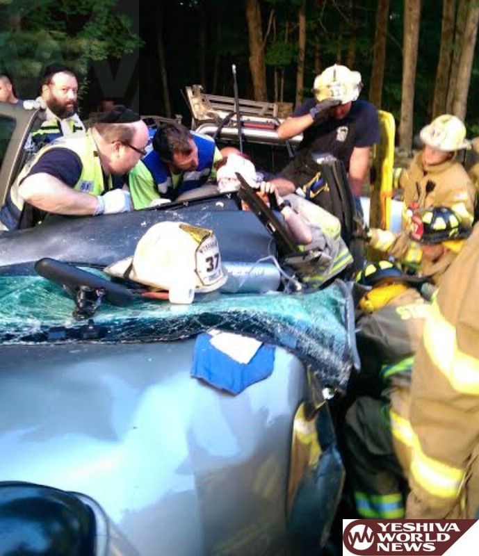 PHOTOS: Serious MVA In Woodridge On Dairyland Rd; Two Victims Being Airlifted To Trauma Center [UPDATED 9:45PM]