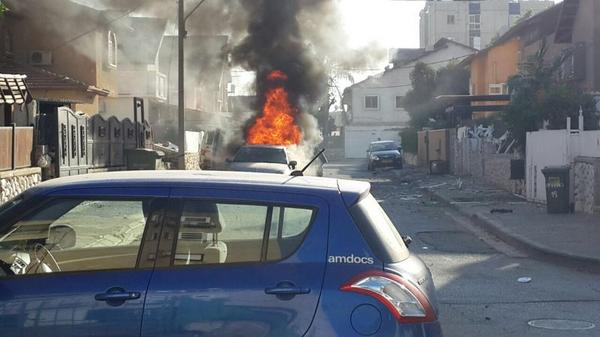PHOTO: Gaza Rocket Hits Vehicles & Home In Kiryat Gat - Serious Injuries Reported [6:15PM IL]