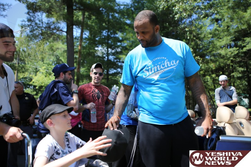 PHOTOS: Yankee Star CC Sabathia Hits Home Run At Camp Simcha