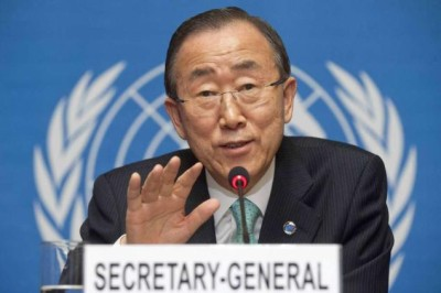 United Nations Secretary General Applies For NYC ID Card