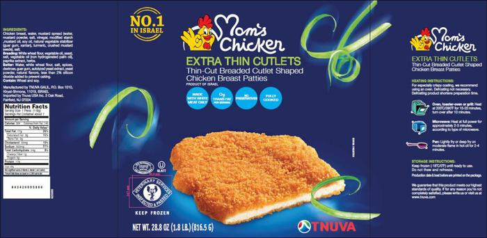 TNUVA USA Recalls Breaded Chicken Product