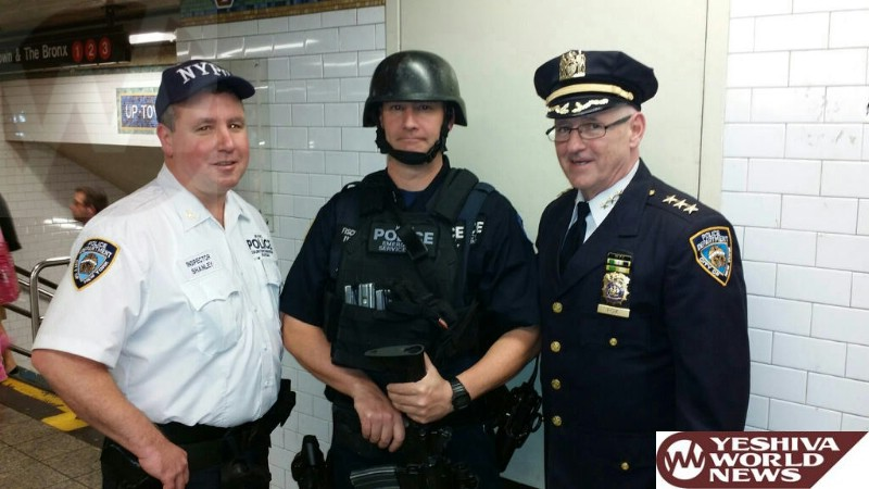 PHOTOS: NYPD Chief of Transit Joseph Fox Visits High-Profile Stations To Ensure Subway System Is Well Protected Against Terror