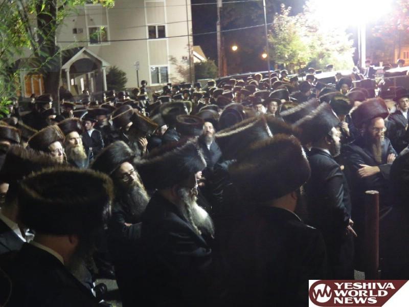 Photo Essay: Levaya Of The Radvil Rebbe ZATZAL