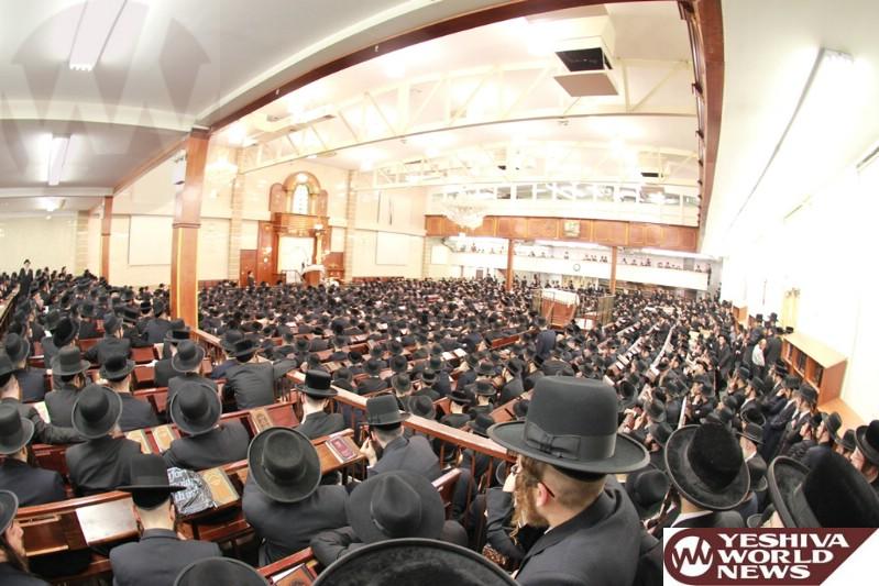 Photos Essay: Satmar Rebbe At The Shabbos Shuvu Drasha (Photos By JDN)