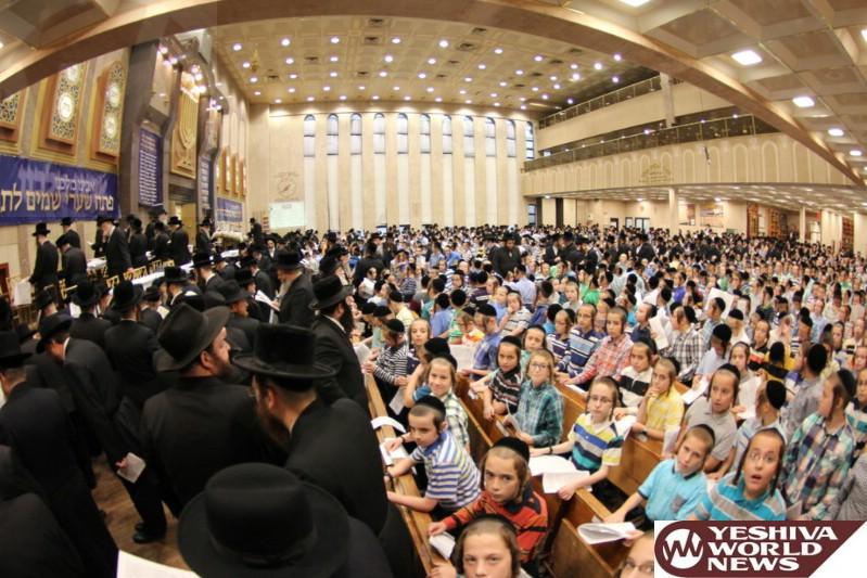 Photo Essay: Over 30,000 Children Worldwide Participate In 22nd Annual Tehillim Asifa Arraigned By Misaskim (Photos By Hillel Engel)
