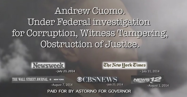VIDEO: Astorino Releases Provocative Ad In Race For NY Governor