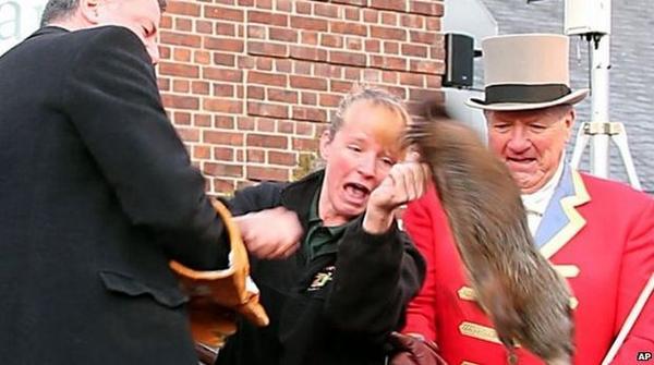 NYC Mayor Ducks Dead Groundhog Questions