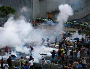 Hong Kong Police Warn Protesters Not To Charge Buildings