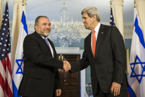 FM Lieberman Meets with US Secretary Kerry in Washington