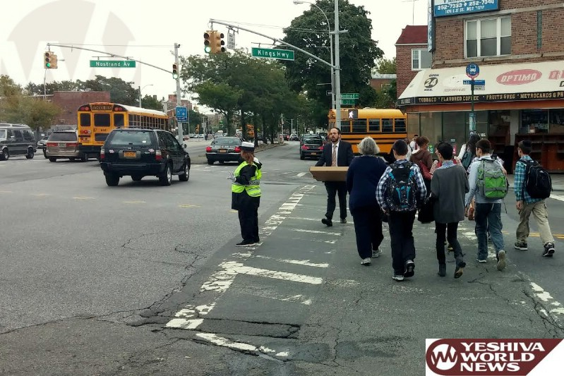 Flatbush: Assemblywoman Brings Crossing Guard to Kings Highway and Nostrand Avenue