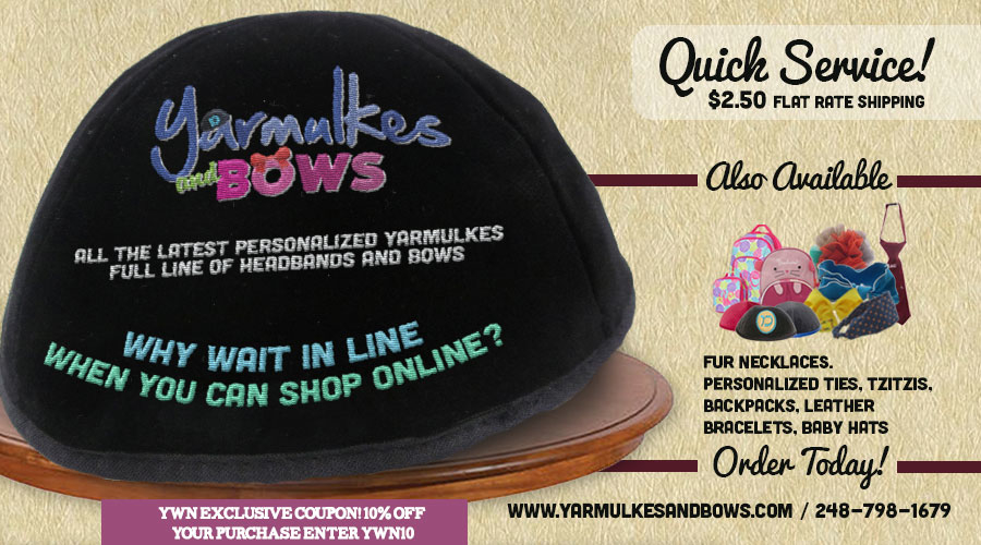 Yarmulkesandbows.com – Still Taking Orders for YT, 10% Exclusive YWN Discount