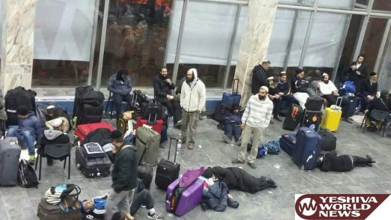 PHOTOS: 100s Stranded for Hours in Ukraine Airport Heading Home from Uman