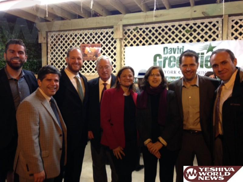 Greenfield Hosts Council Speaker Melissa Mark-Viverito at Boro Park Sukkah Gathering