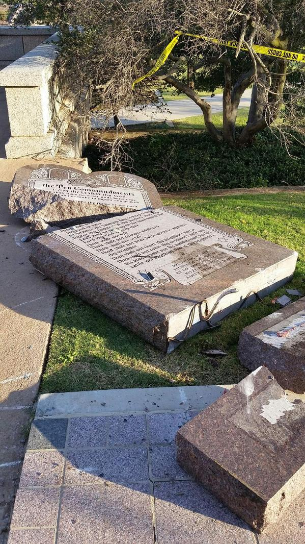 Ten Commandments Attack Suspect Being Evaluated