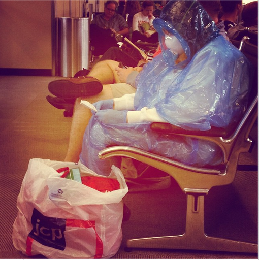 Ebola Fears: Passenger Wears Homemade Hazmat Suit to Airport