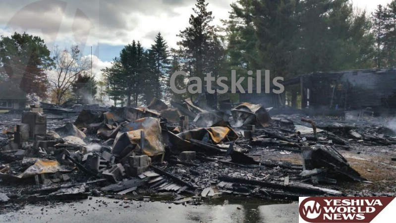 PHOTOS: Massive Fire Destroys 16 Bungalows At Camp Shira In Sullivan County