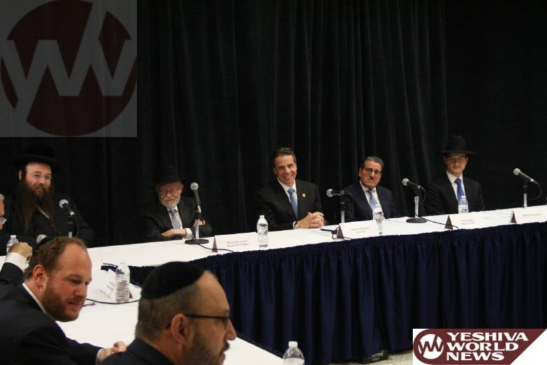 Photo Essay: NYS Gov Cuomo Meeting Jewish Community Leaders in Borough Park (Photos By JDN)