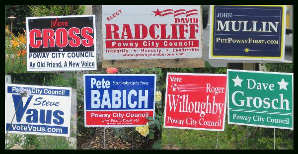 Pesky, Effective? Campaign Signs Spread Like Weeds