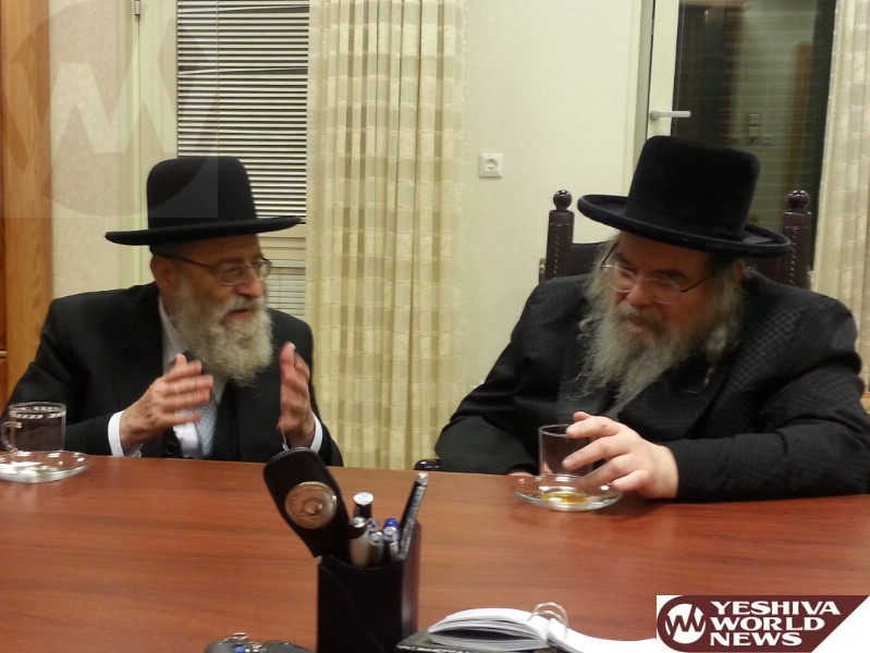 PHOTOS: Belzer Rebbe Hosts Jerusalem's Chief Rabbi