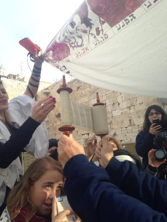 PHOTO: Women of the Wall Continue Kosel Tefilos with Sefer Torah on Rosh Chodesh Kislev