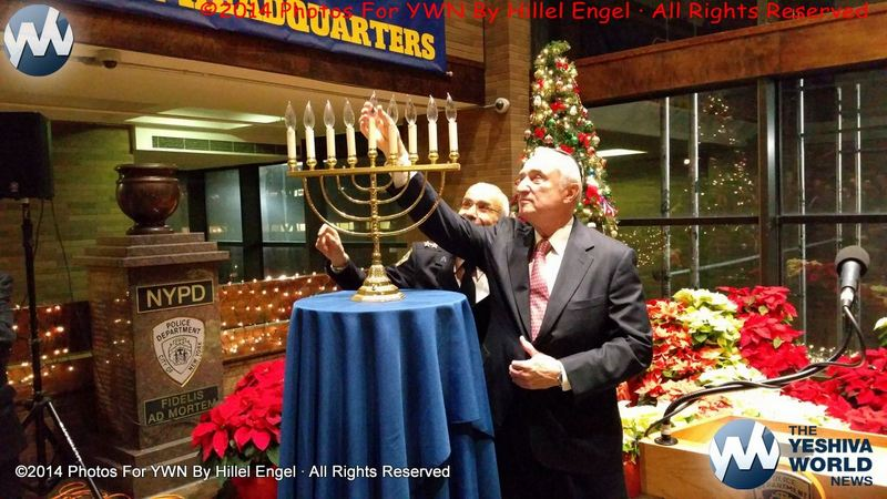 Photo Essay: Community Activists Join NYPD Commissioner As He Lights Menorah At Police Headquarters (Photos By Hillel Engel)