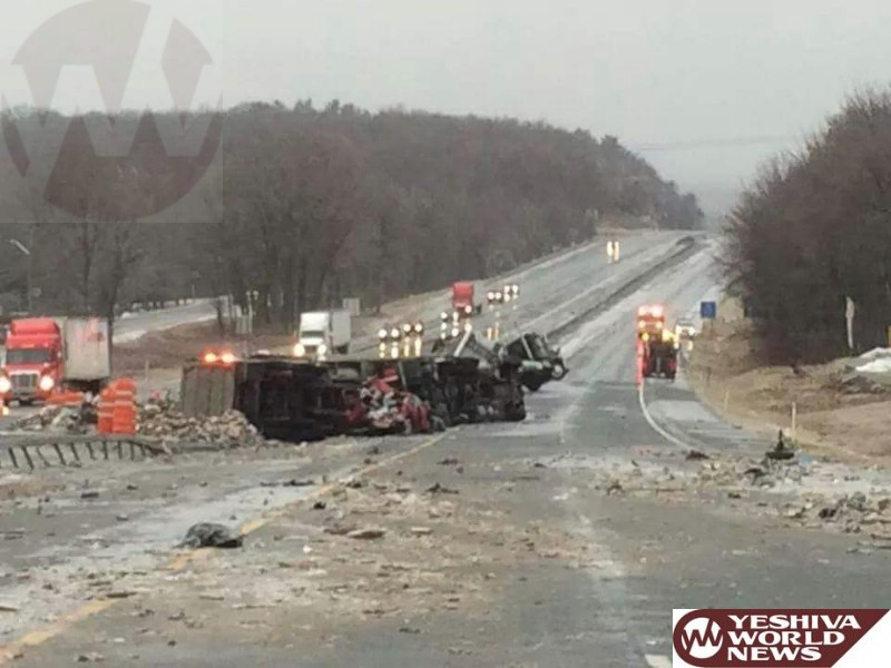 WATCH: 6 Trucks, 2 Cars Pile Up On Icy New York Route 17 In Sullivan County, 1 Killed