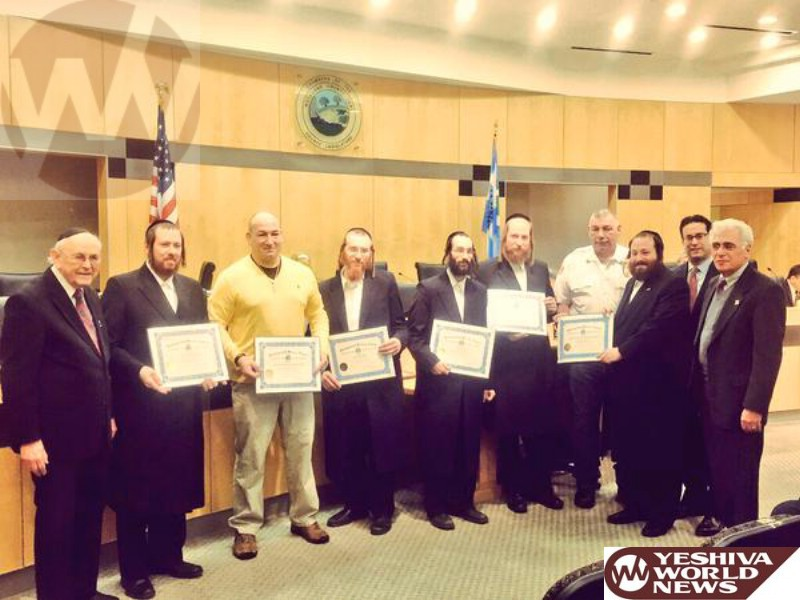 WATCH: Rockland County Legislators Awards Chaverim of Rockland Volunteers For Fire Rescue