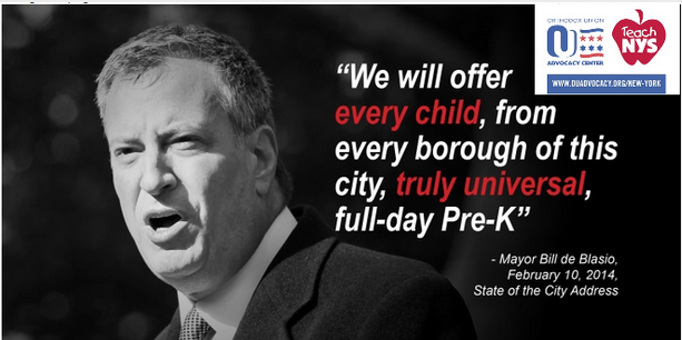 OU Calls on Mayor de Blasio to Make His Signature Universal Pre-K Program 'Universal'
